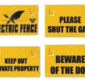 Double Sided Fence Signs